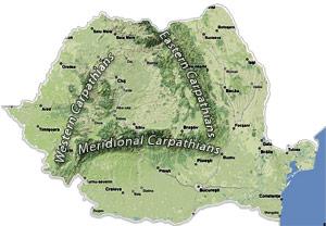 Map-carpathian-mountains