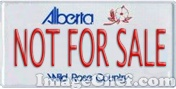 Alberta Not For Sale license plate
