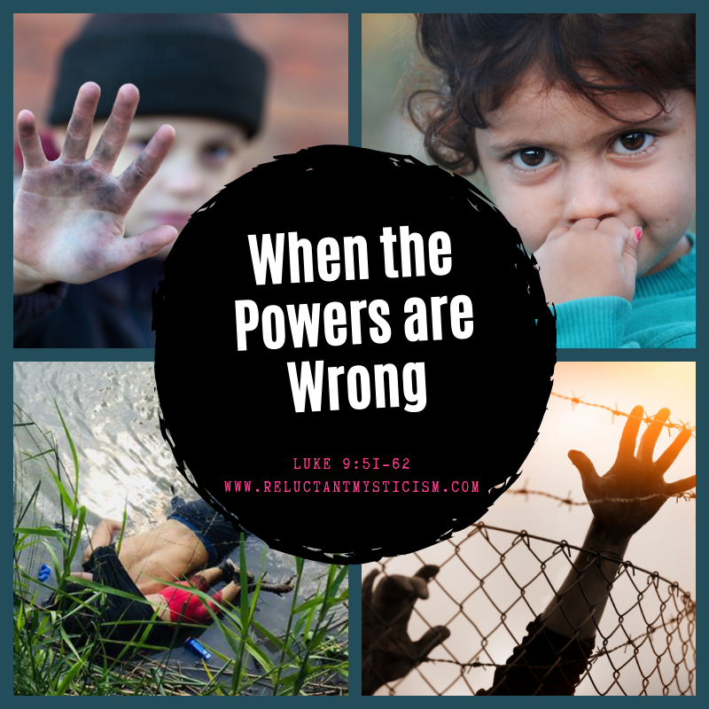 Four photos - Upper left: boy in a black cap holding his dirty hand towards the camera lens; upper right: small toddler with dark eyes and curly dark hair staring at the camera with fingers in the mouth; lower left: bodies of Oscar and Angie Martinez ashore on the Rio Grande; lower right: hands reaching against barbed wire fence with sunset in behind