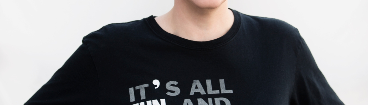 "Pam Rocker with black t-shirt which reads ""It's all fun and gay until someones loses their rights."""